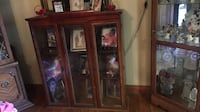 brown wooden framed glass display cabinet Baton Rouge, 70806