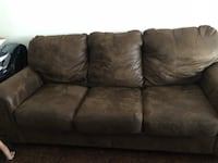 Brown suede 3-seat sofa Visalia, 93291