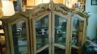 brown wooden framed glass display cabinet Palatka, 32177