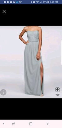 Size 12 silver dress  Channahon