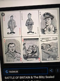 RARE The Battle of Britain 50th Anniversary playing cards Metairie, 70002