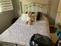 Queen size bed frame no mattress included