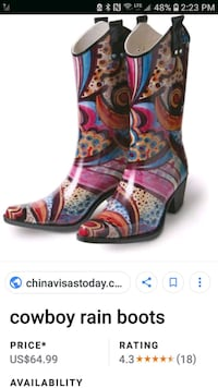 pair of multicolored floral print boots screenshot Windsor, N8Y 3S2