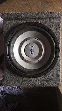 Black and gray subwoofer speaker and Amplifier 2259 mi