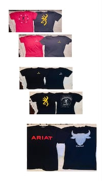 4 new Browning T-Shirts and 2 Ariat T-Shirts all size M Upper Arlington, 43221