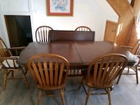 Table with 6 oak chairs  Milwaukee, 53207