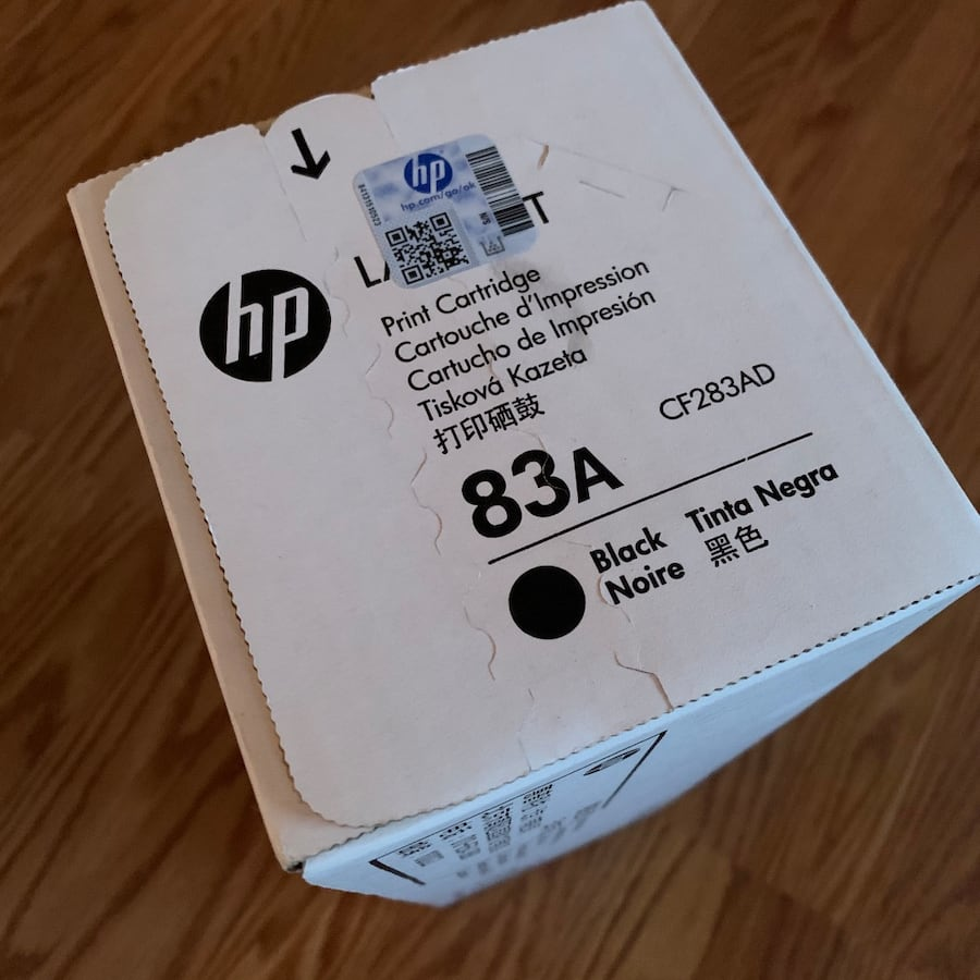 HP laserjet 83a cartridge (black)