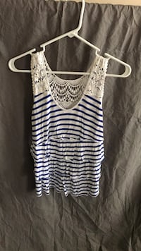 Women's white and blue striped tank top Frederick, 21704