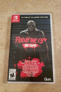 Friday The 13TH (The Game) Nintendo Switch  Barrie, L4N 2N4