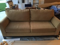 brown fabric 2-seat sofa KELOWNA