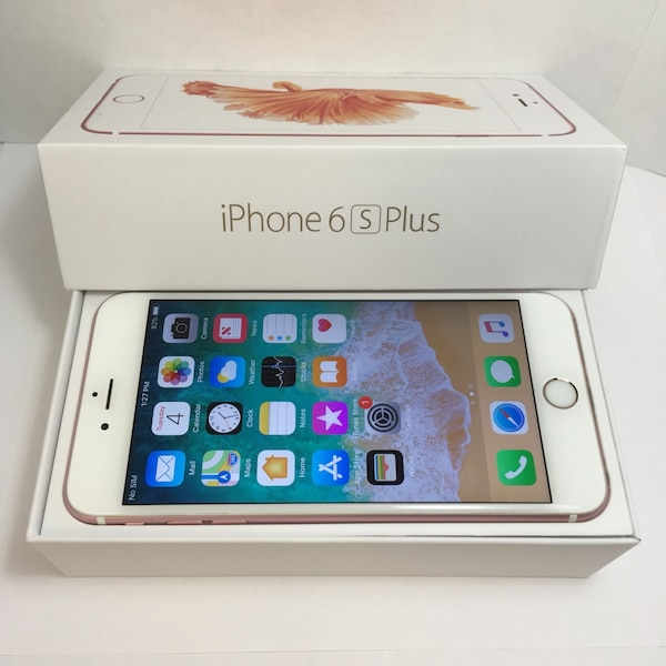 Rose gold iphone 6s plus with box