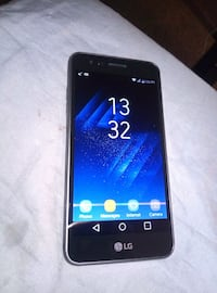 black LG android smartphone with box Edmonton