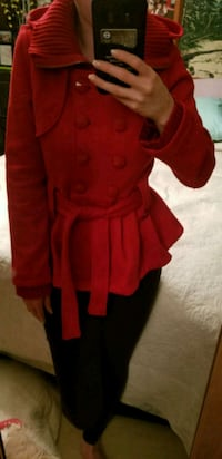 Adorable Red Peplum Jacket  Cambridge, N1T 1Y5
