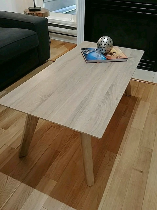 Light oak colour coffee table midcentury modern