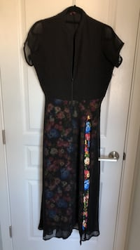 Black and floral dress