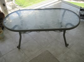 Glass 3 or 4 Seasons Patio Coffee Table (local delivery $10)