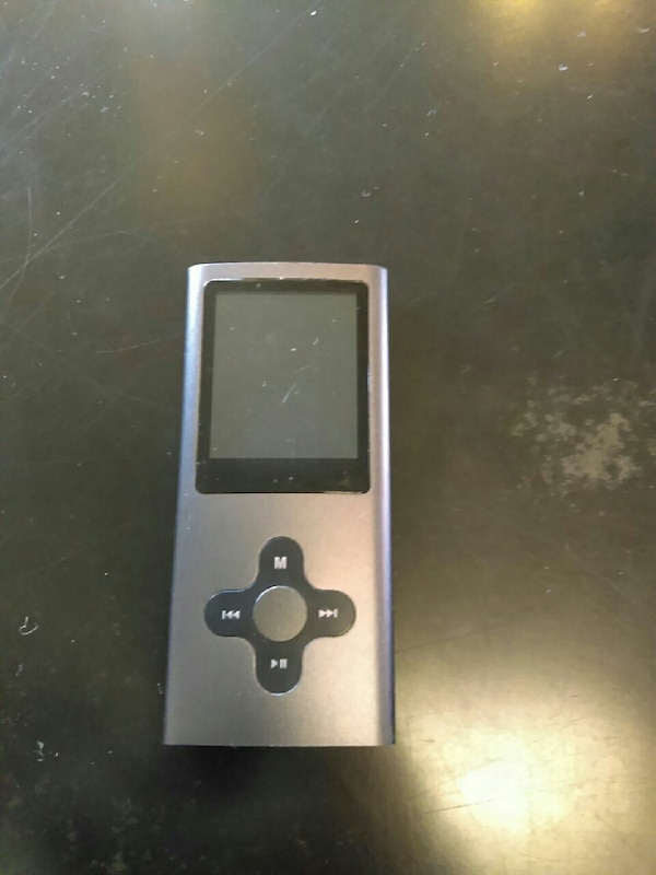 silver and black MP4 player