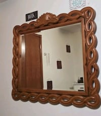 brown wooden framed wall mirror Spencer, 73084