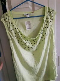 Large lime green shirt with Camisole Winnipeg, R3G 1M3