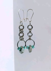 HEX NUT CHAINMAIL EARRINGS