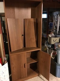 Bookcase with cabinet and shelves below Wellesley Hills, 02481
