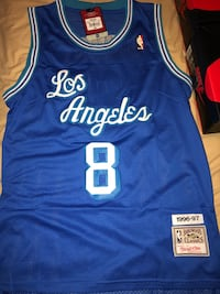 blue and white Los Angeles Lakers basketball jersey 2056 mi