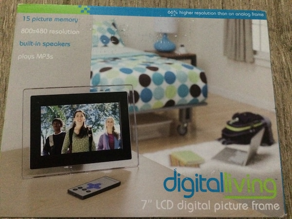 Used Digital Living 7 Inch Lcd Digital Picture Frame For Sale In