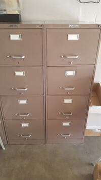4 Tall File Cabinets