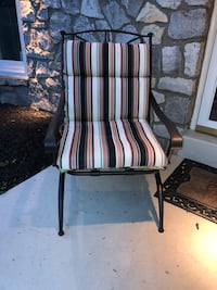 white and black stripe padded armchair Warminster, 18974