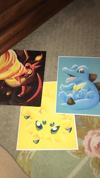 Three Pokemon characters poster anime West Palm Beach