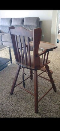Antique Wooden High Chair 2222 mi