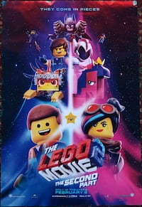 THE LEGO MOVIE 2: THE SECOND PART Movie Poster Gardena, 90249