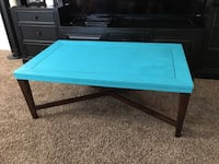 rectangular blue and brown wooden coffee table Weatherford, 73096