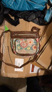 brown and green floral crossbody bag Edmonton, T6W 0K1