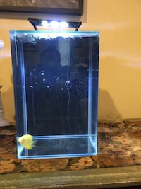 Beautiful desktop or corner self aquarium .Can be use as saltwater or freshwater perfect for the beginner fish enthusiast or the more advanced salt water fish Charlotte, 28217