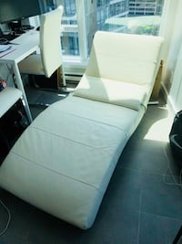 white and black fabric sofa Vancouver, V6E 4P5
