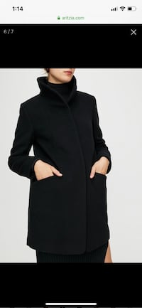 Wilfred Cocoon Coat, Black, Size Small, Great condition  Vancouver, V5M 4X2