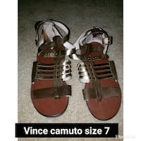 Vince camuto brown leather sandals size 7