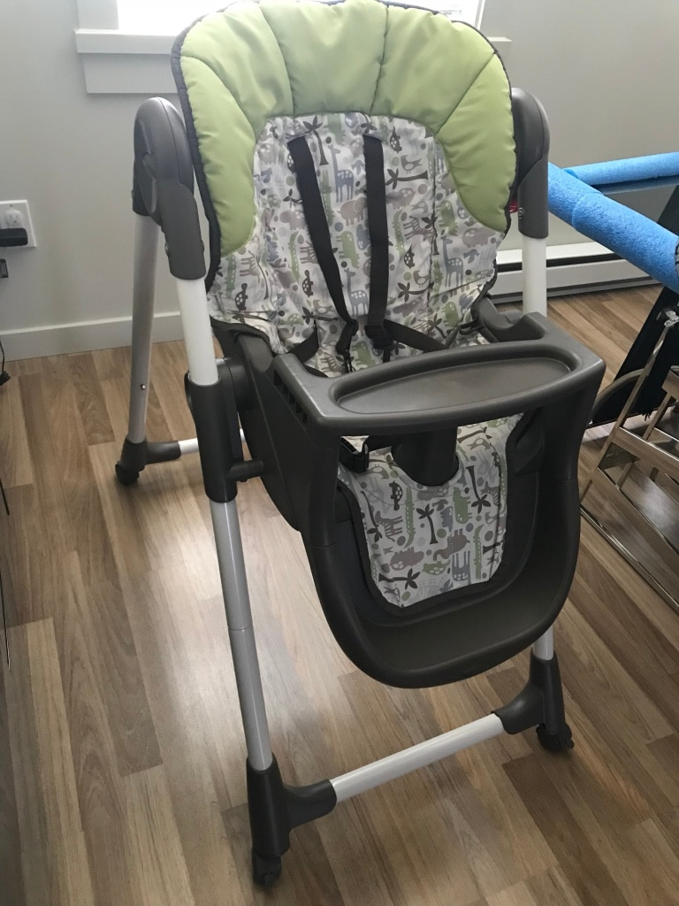 Used Graco Meal Time High Chair Zoofari Brown for sale in Coquitlam & Used Graco Meal Time High Chair Zoofari Brown for sale in Coquitlam ...