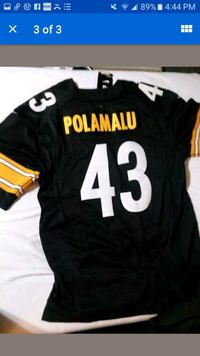 Pittsburgh steelers polamalu black gold jersey 48  Hagerstown, 21740