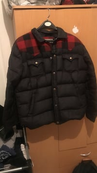 Red & black Penfield bubble jacket