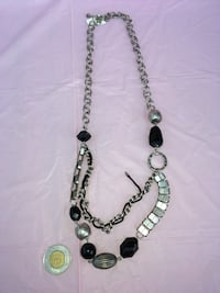 Black and silver necklace Calgary, T2A 6E4