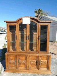 brown wooden framed glass display cabinet Las Vegas, 89147