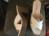 Pair of white leather open-toe sandals Windsor, N9J 3L1