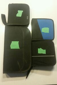three black and blue leather wallets Toronto, M3L