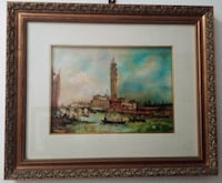 Oil painting in canvas of Venice  MILANO