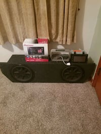 Pioneer double din and 12in kicker cvrs with brutus amp