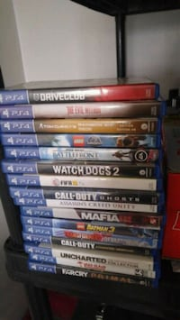 assorted Sony PS4 games Kitchener, N2H
