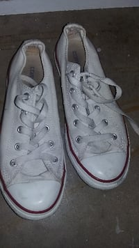 pair of white Converse low-top sneakers St. Louis