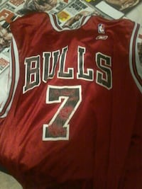 red and white Chicago Bulls 23 jersey St. Cloud, 56301